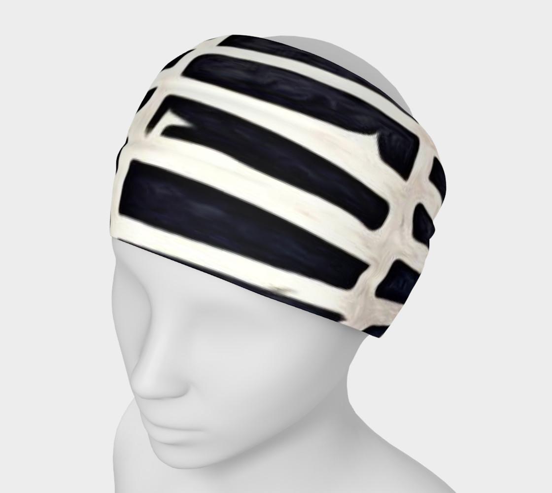 Aperçu de black and white head band #1
