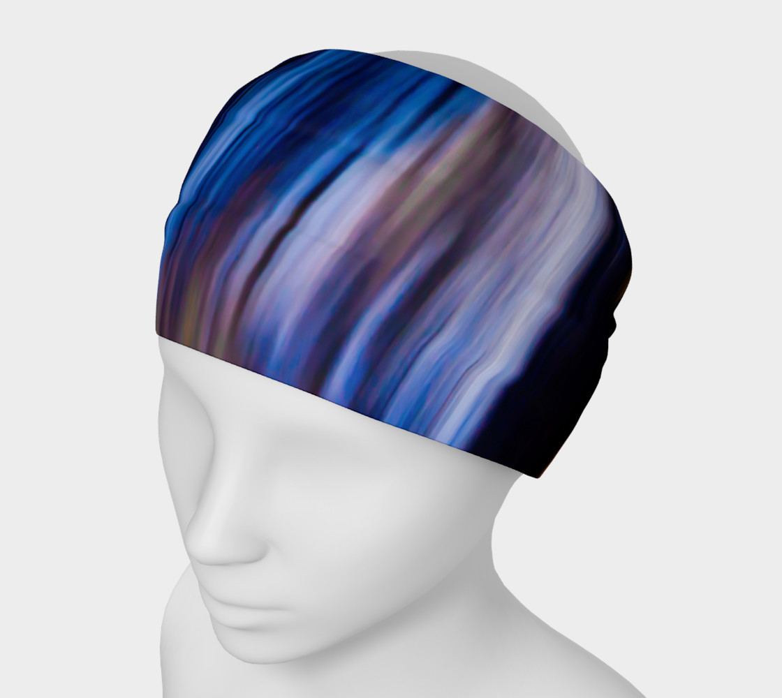 Abstract Tie Dye Color Stripes Headband Miniature #2