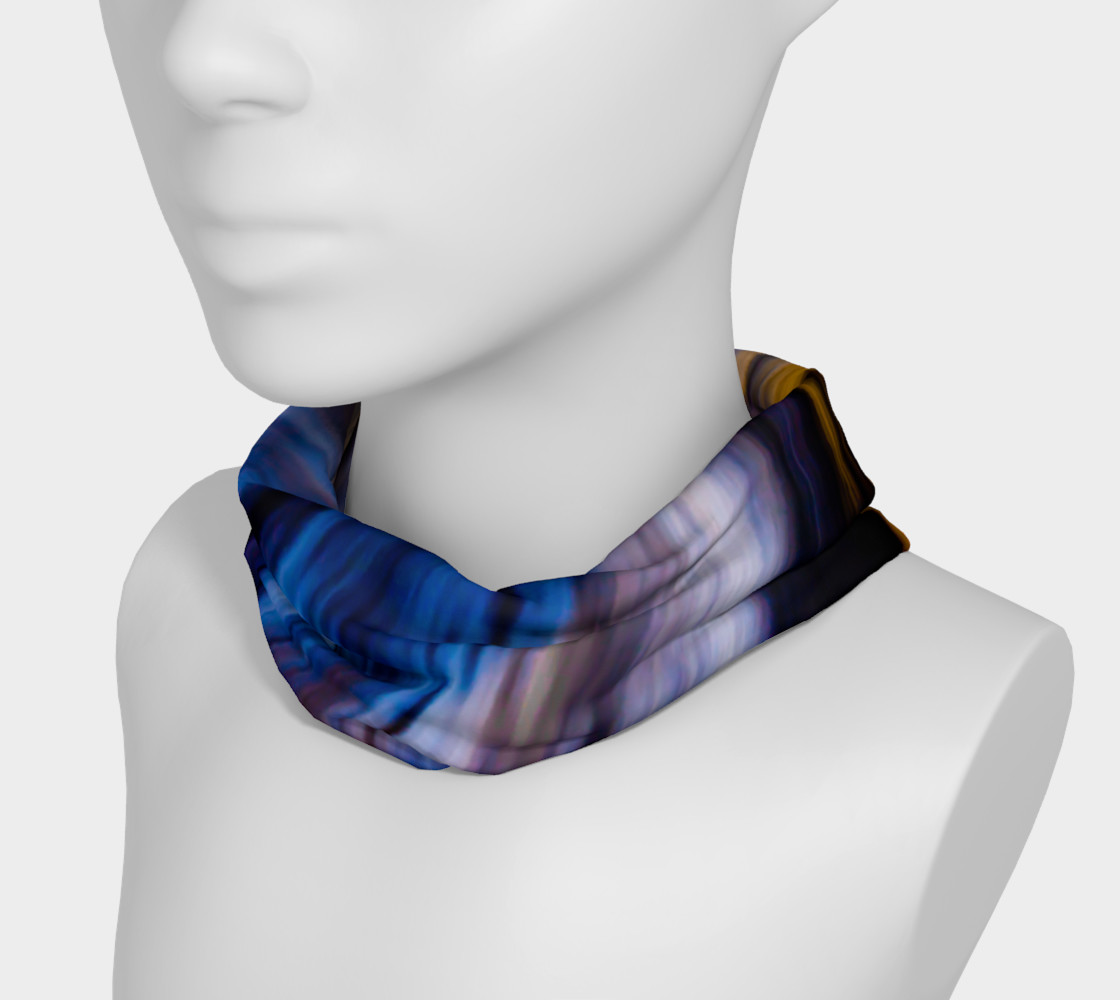 Abstract Tie Dye Color Stripes Headband Miniature #4
