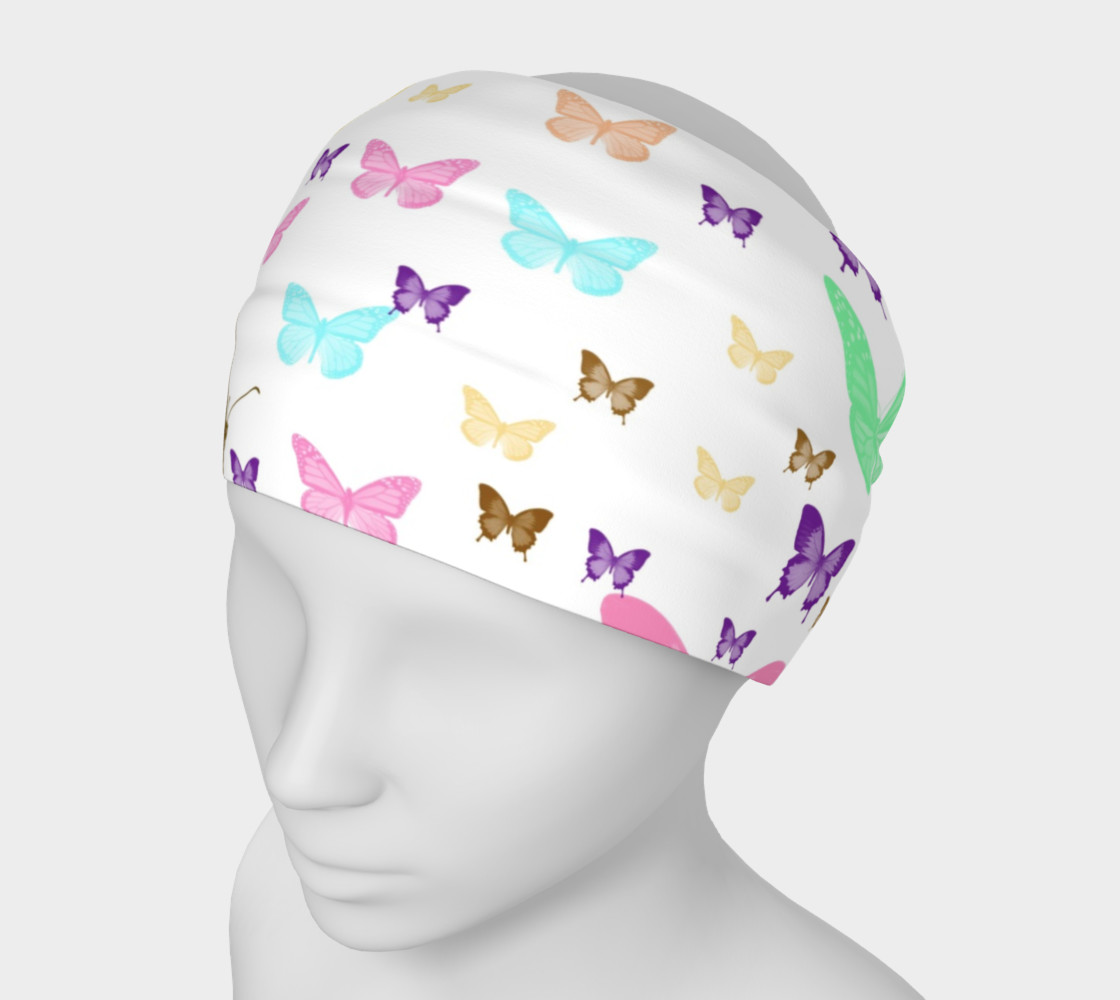 Butterfly Pattern Headband Miniature #2