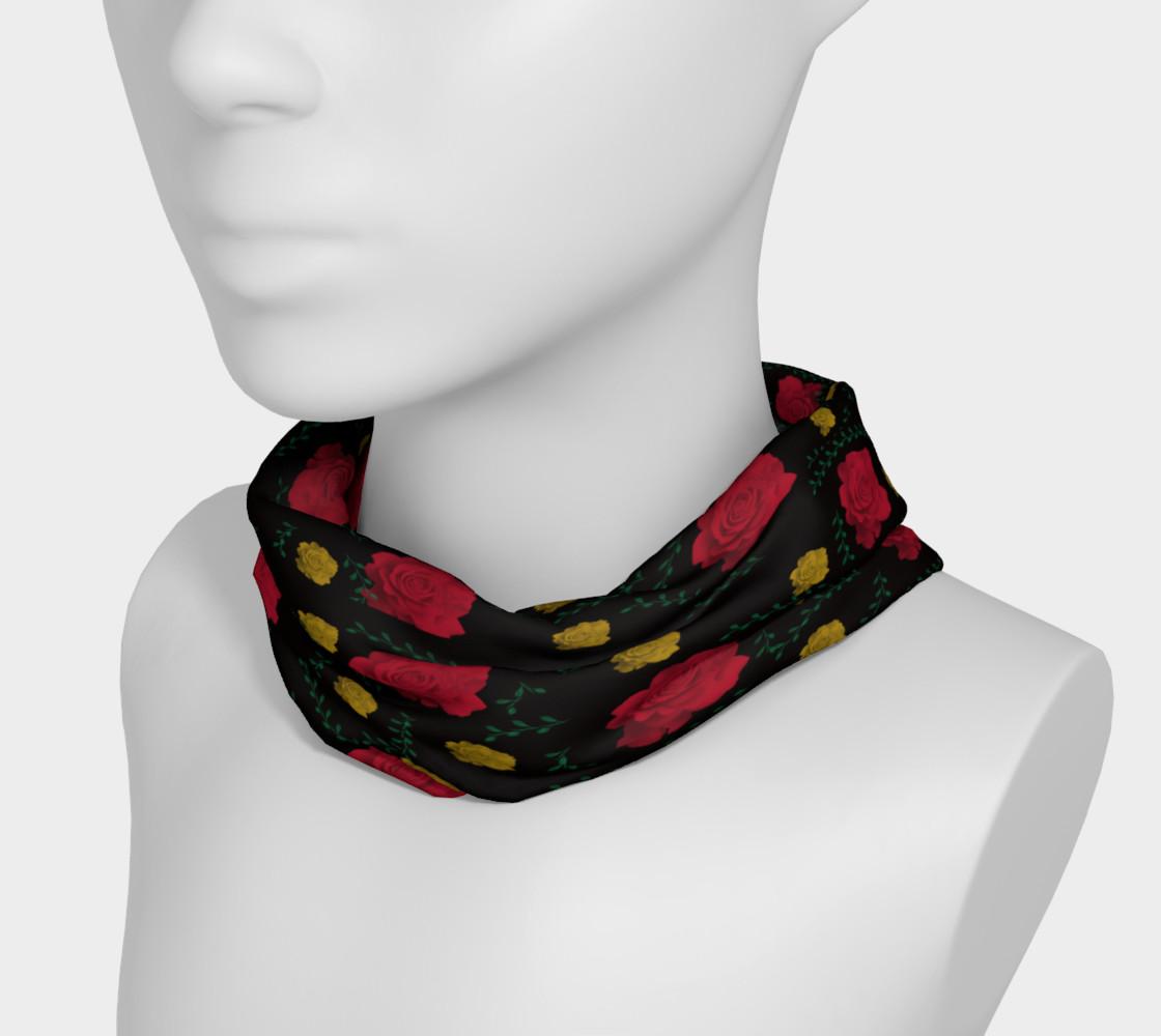 Aperçu de Roses on Black Headband #3