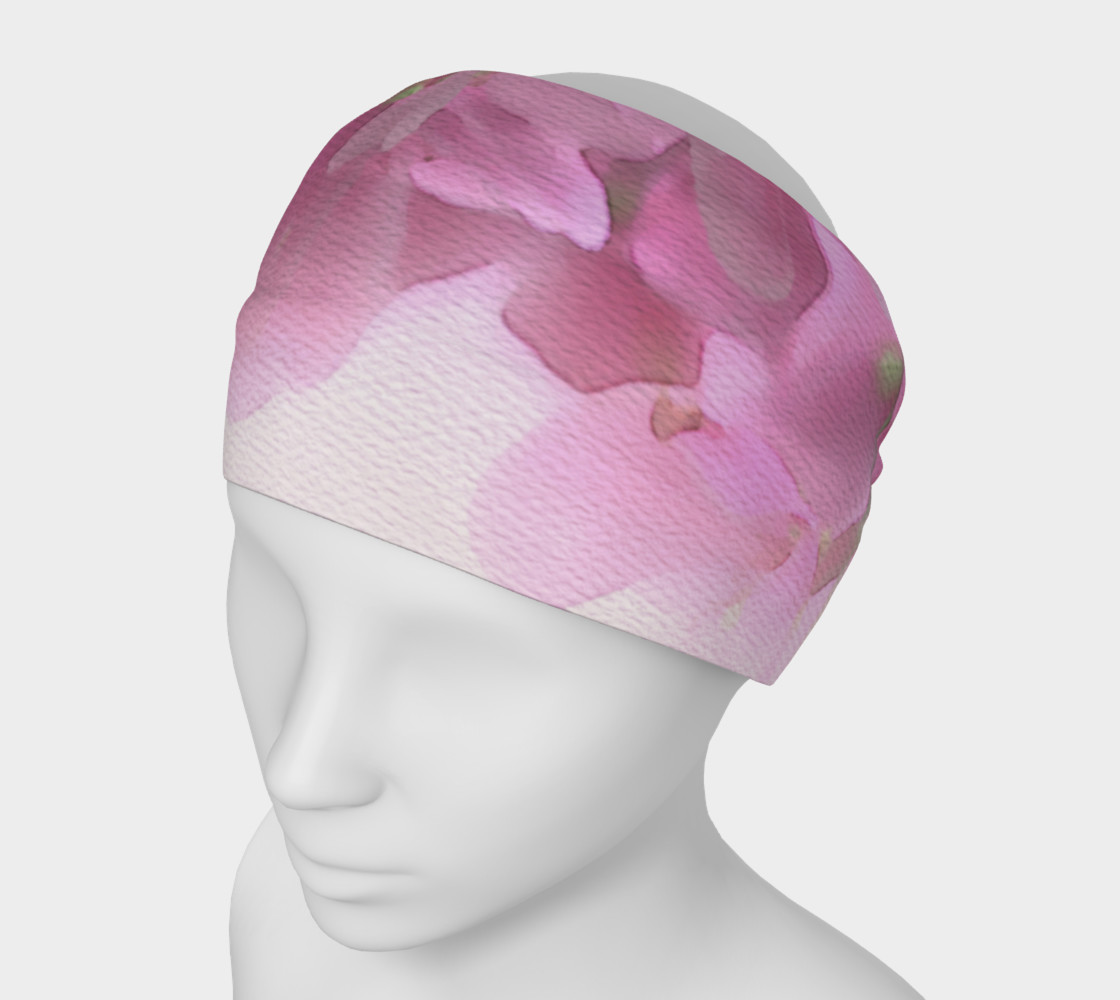 Aperçu de Water Color Peach Blossom Floral Headband #1