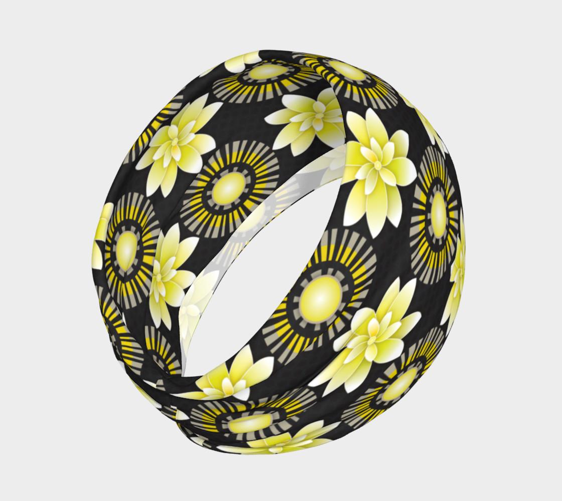 Aperçu de Design Flowers Blanco Negro Dots #2