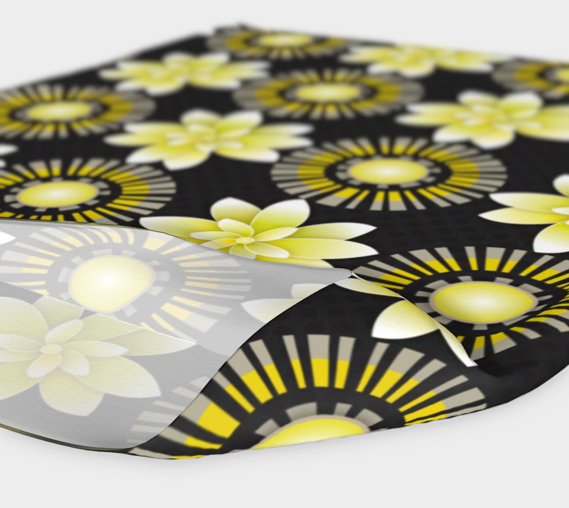 Aperçu de Design Flowers Blanco Negro Dots #4