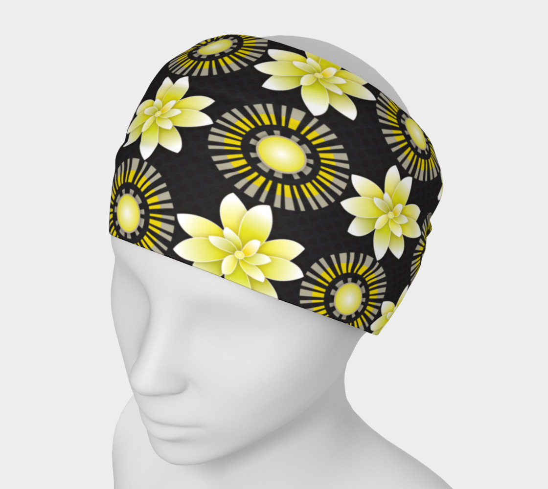 Aperçu de Design Flowers Blanco Negro Dots #1