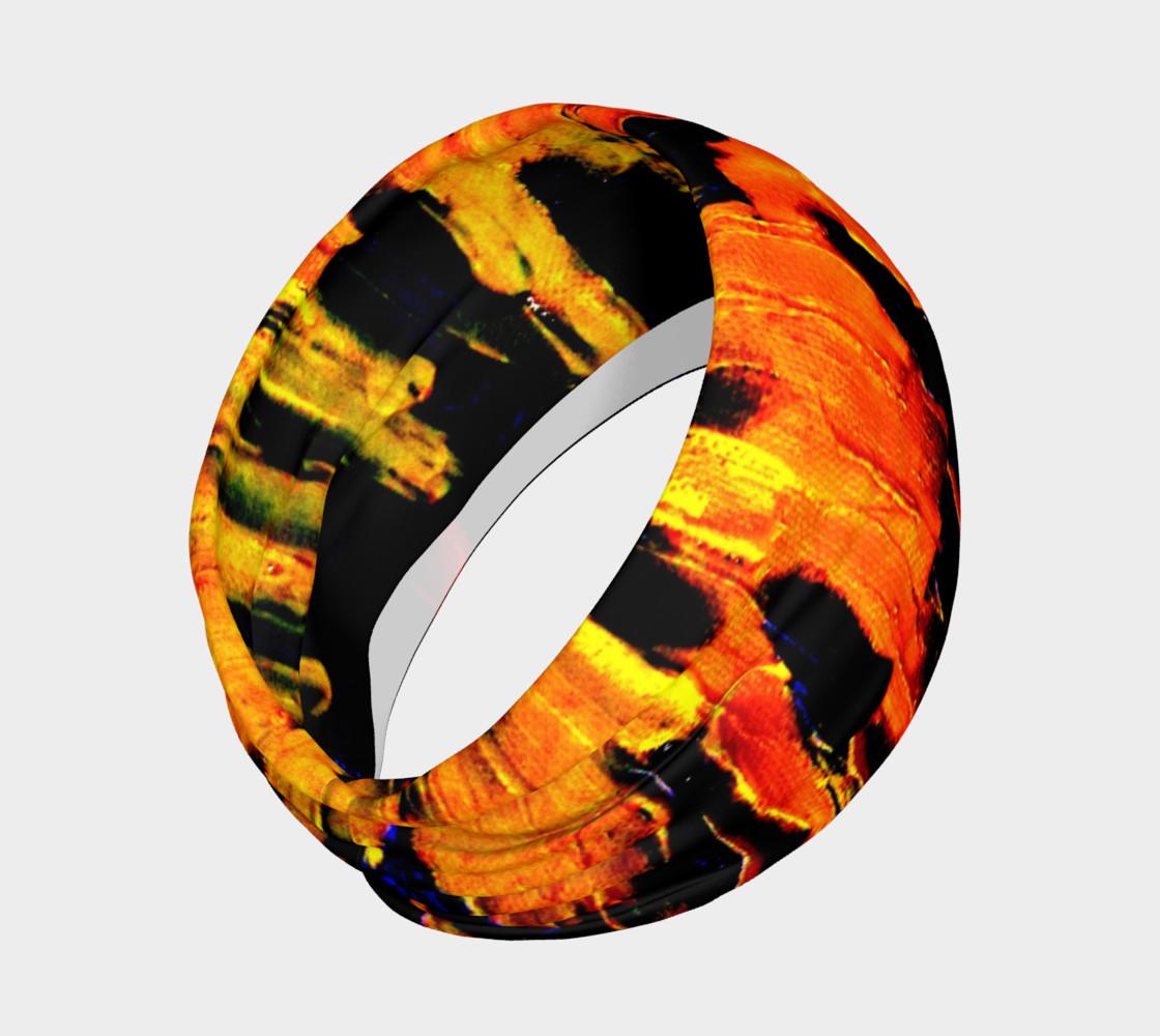 Lava in Black and Orange Headband preview #2