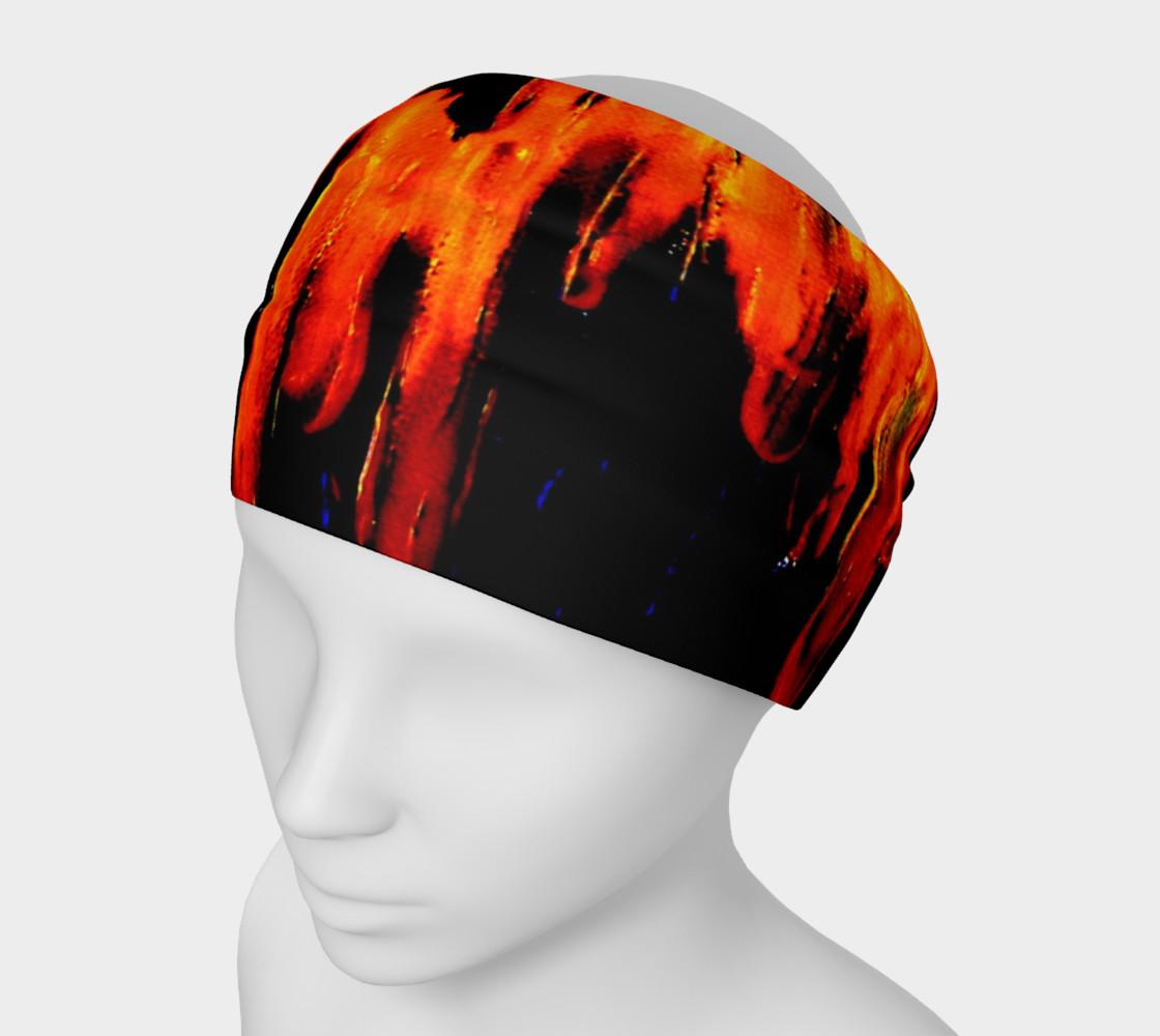 Lava in Black and Orange Headband preview #1