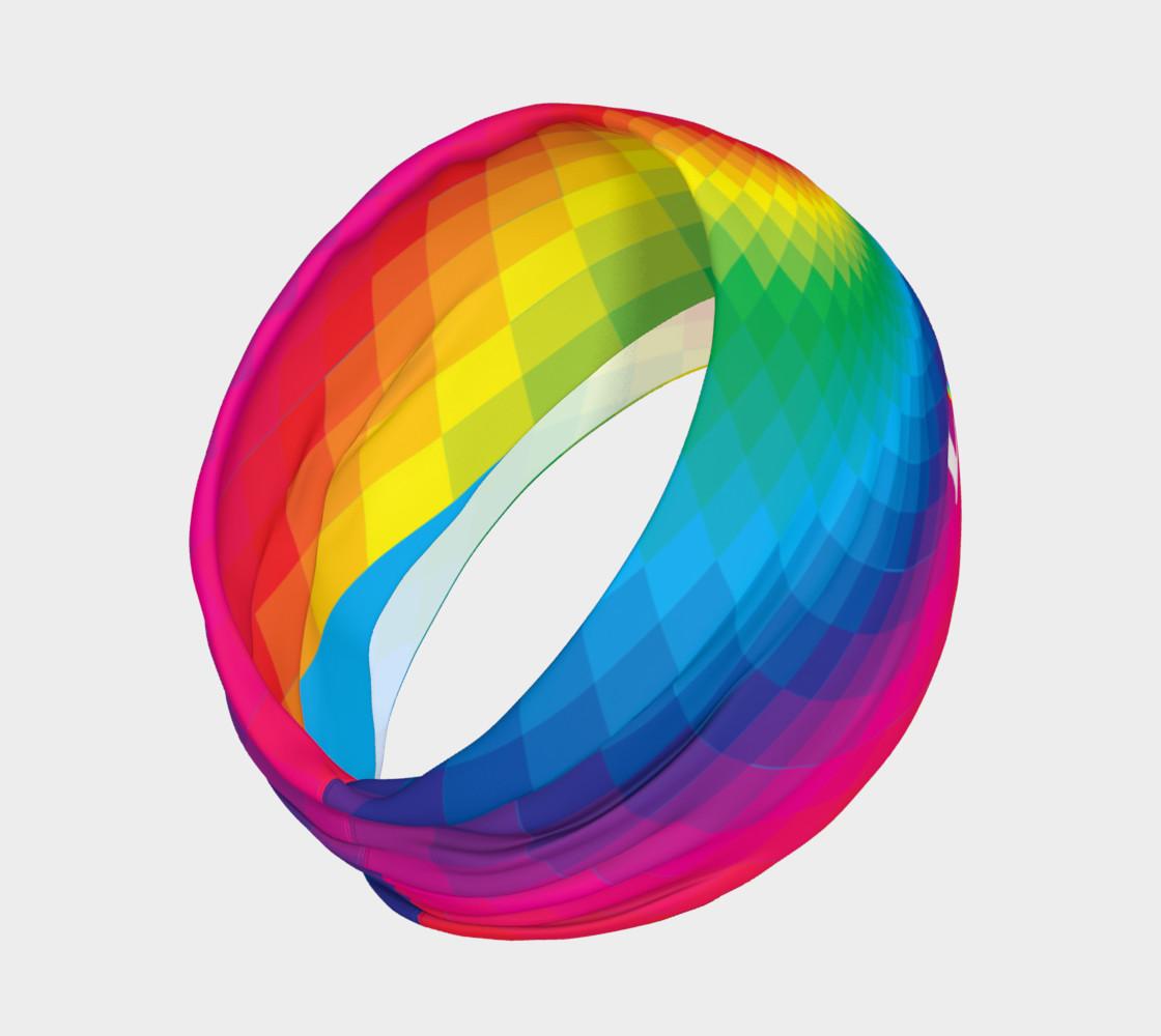Love wins rainbow headband preview #2