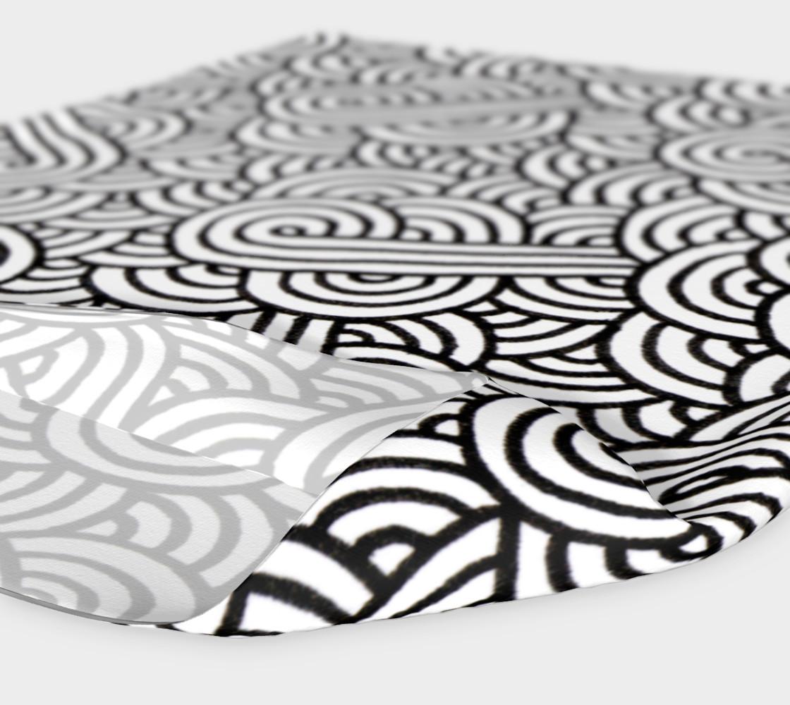 Aperçu de Black and white swirls doodles Headband #4