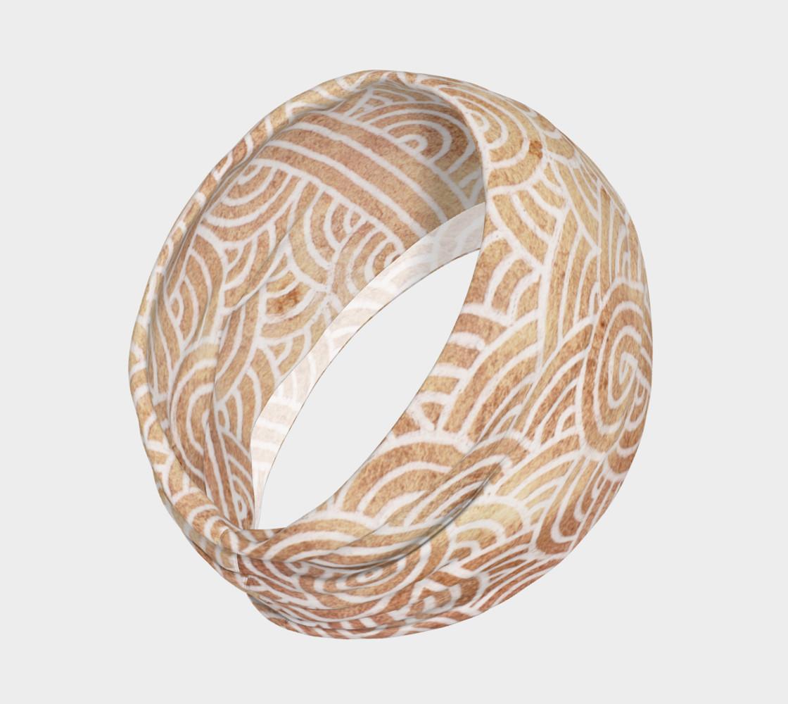 Aperçu de Iced coffee and white swirls doodles Headband #2