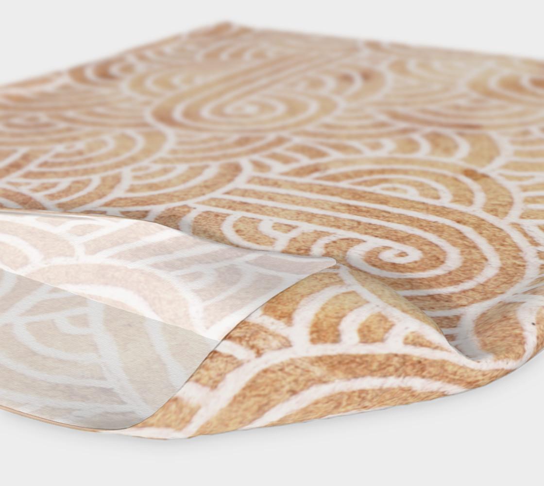 Aperçu de Iced coffee and white swirls doodles Headband #4
