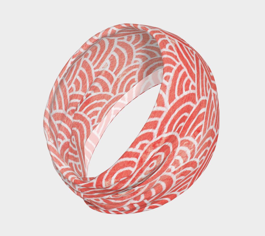 Aperçu de Peach echo and white swirls doodles Headband #2