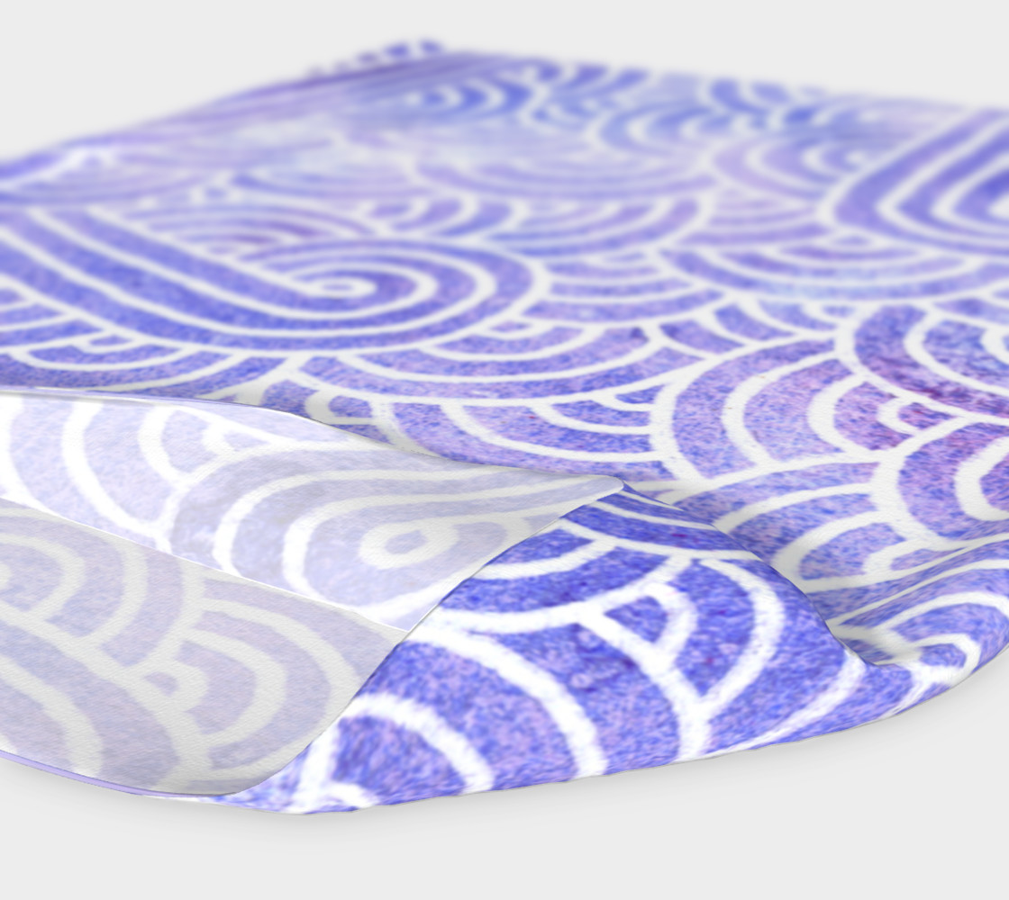 Lavender and white swirls doodles Headband preview #4