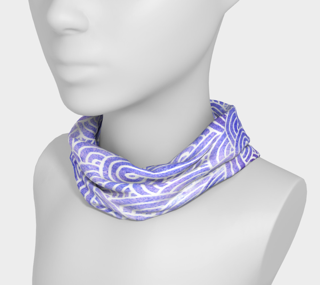 Lavender and white swirls doodles Headband preview #3
