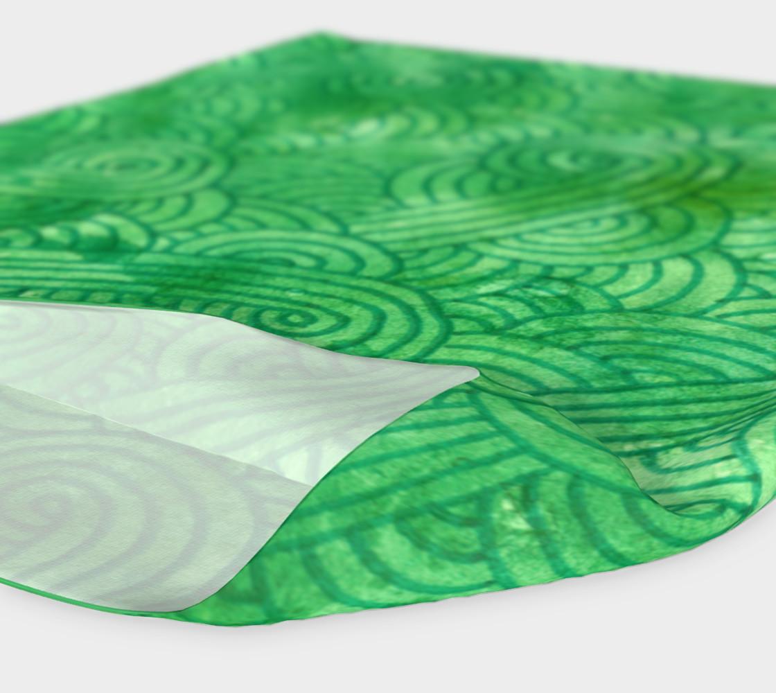 Green swirls doodles Headband preview #4