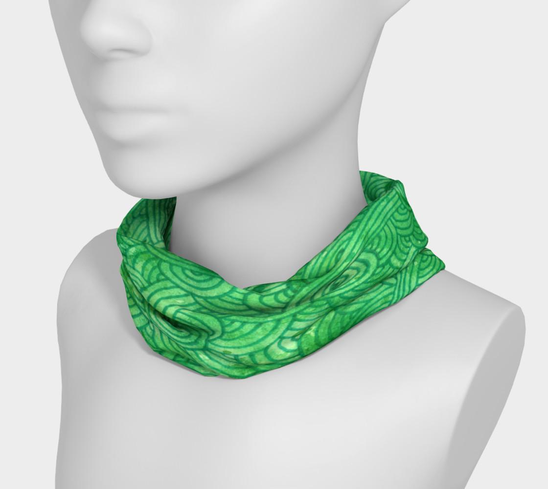Green swirls doodles Headband preview #3