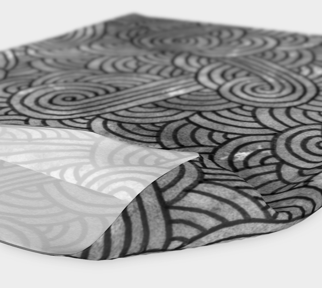 Grey and black swirls doodles Headband preview #4