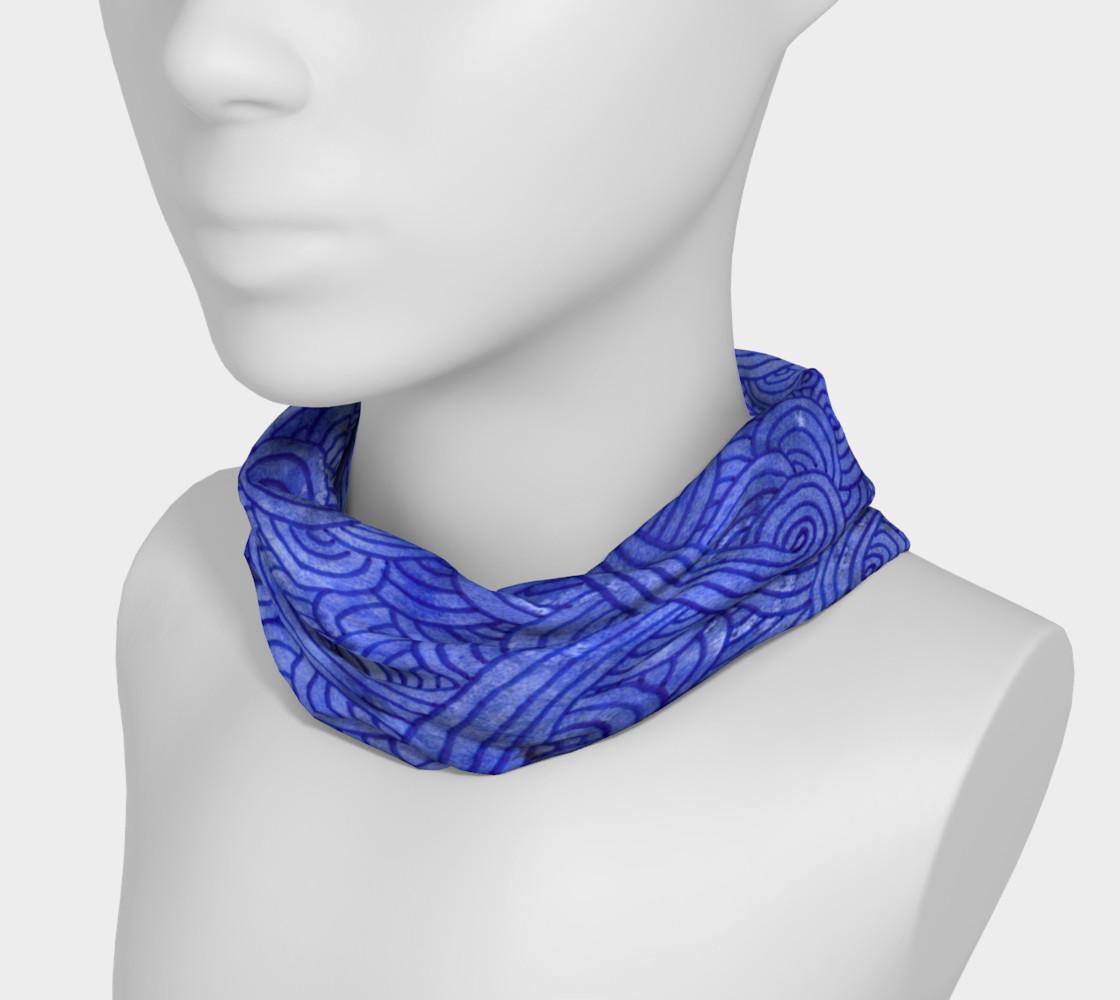 Aperçu de Royal blue swirls doodles Headband #3