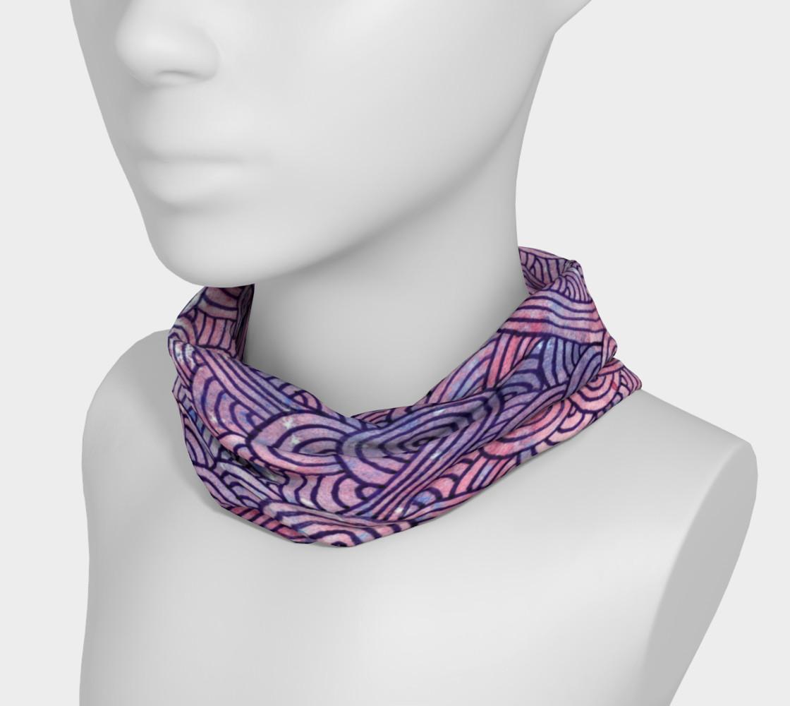Purple swirls doodles Headband preview #3