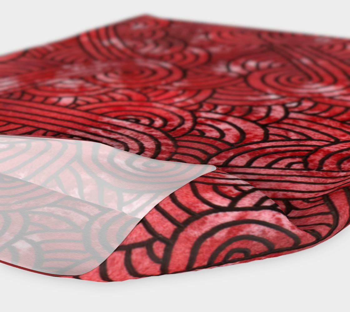 Aperçu de Red and black swirls doodles Headband #4