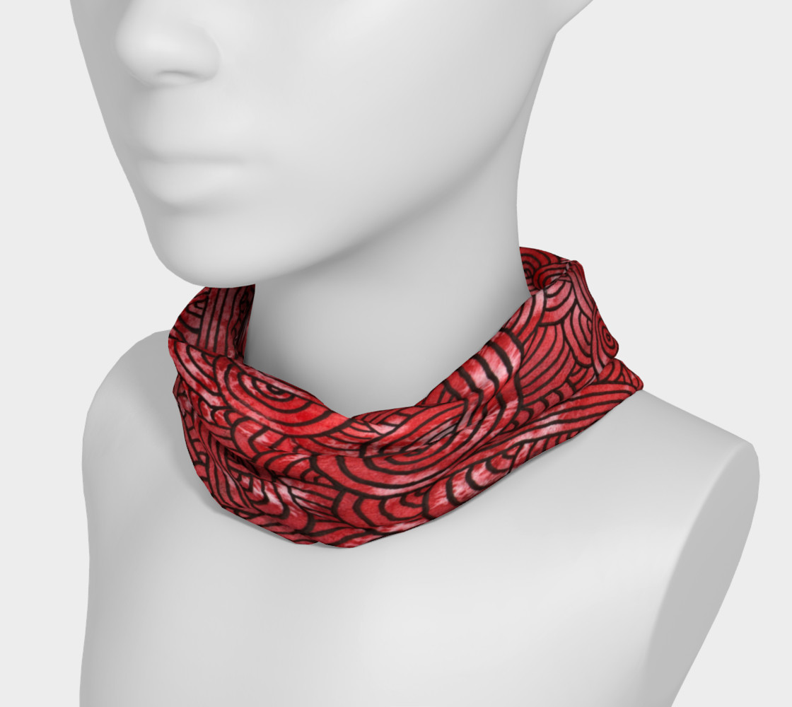 Aperçu de Red and black swirls doodles Headband #3