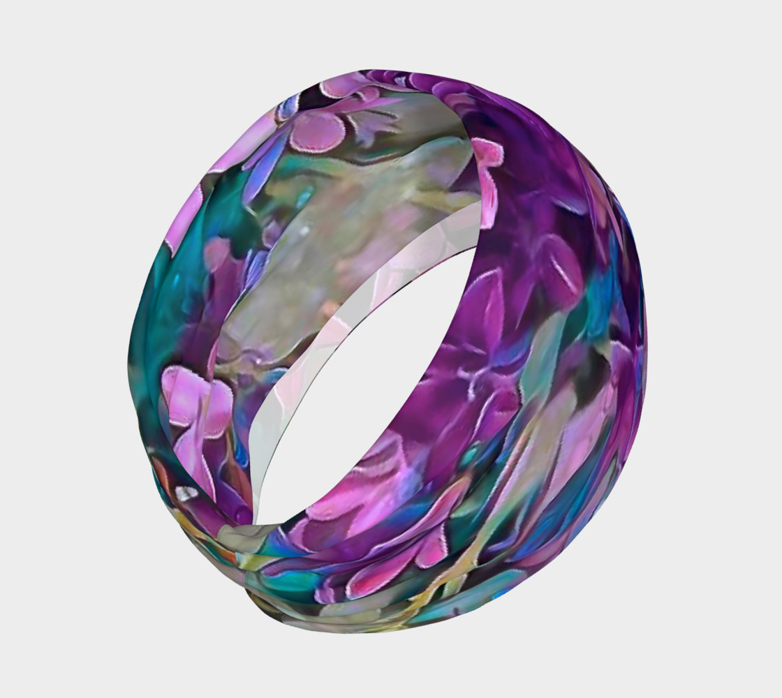 purple flower head band preview #2