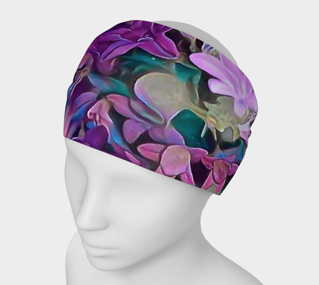 purple flower head band preview #1
