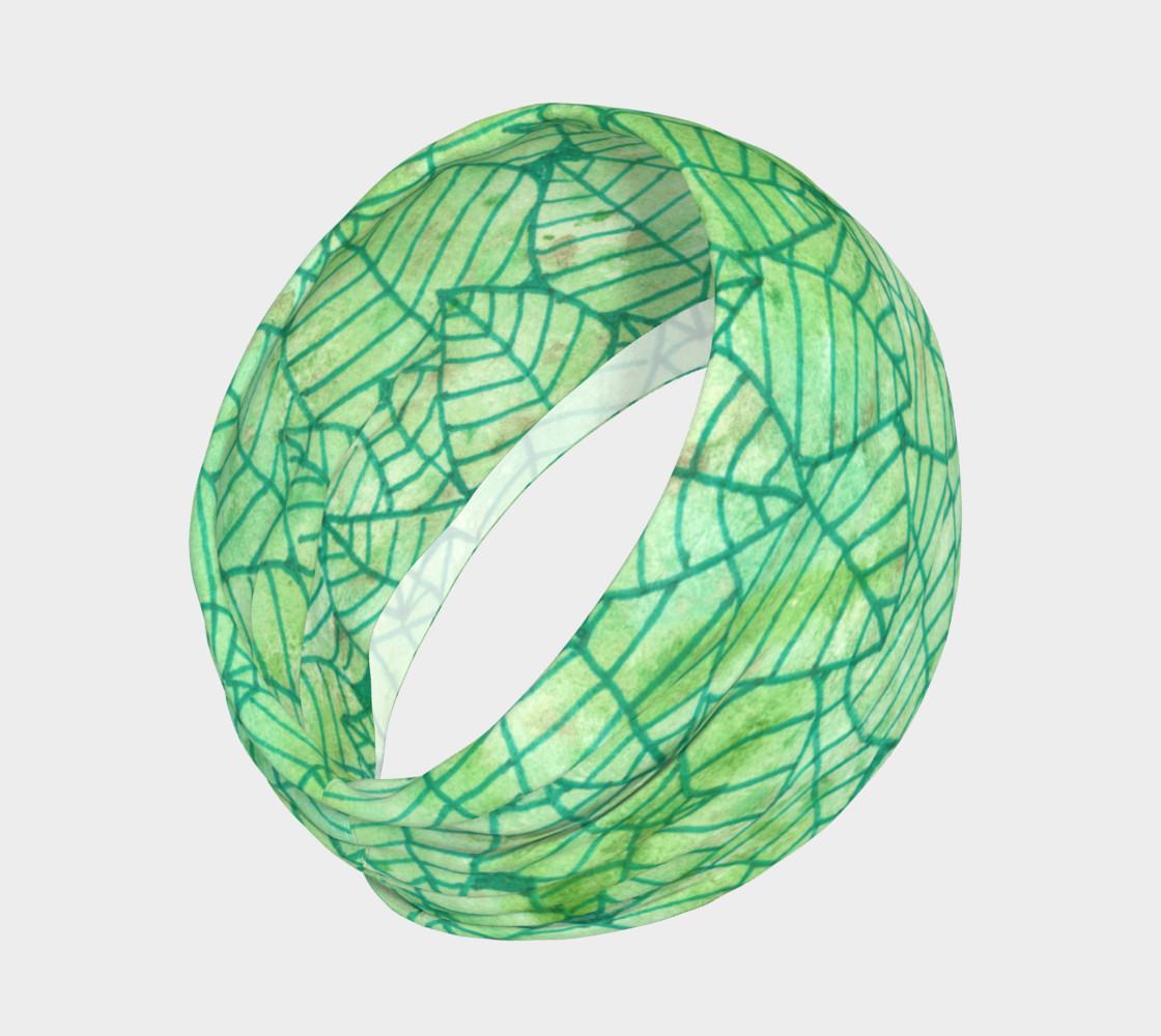 Aperçu de Green foliage Headband #2