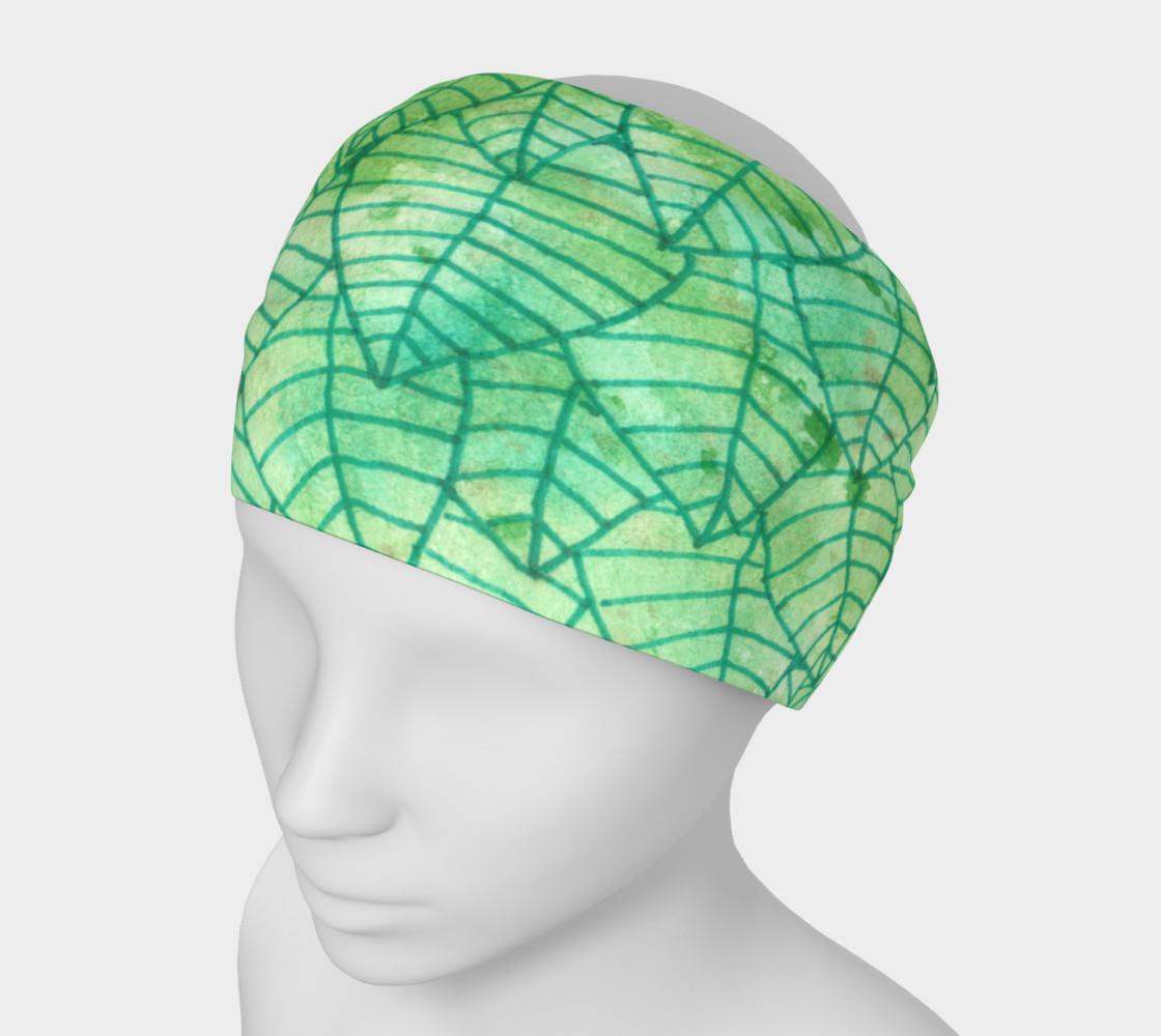 Aperçu de Green foliage Headband #1