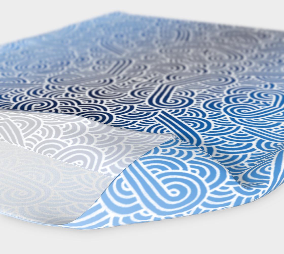 Aperçu de Ombre blue and white swirls doodles Headband #4