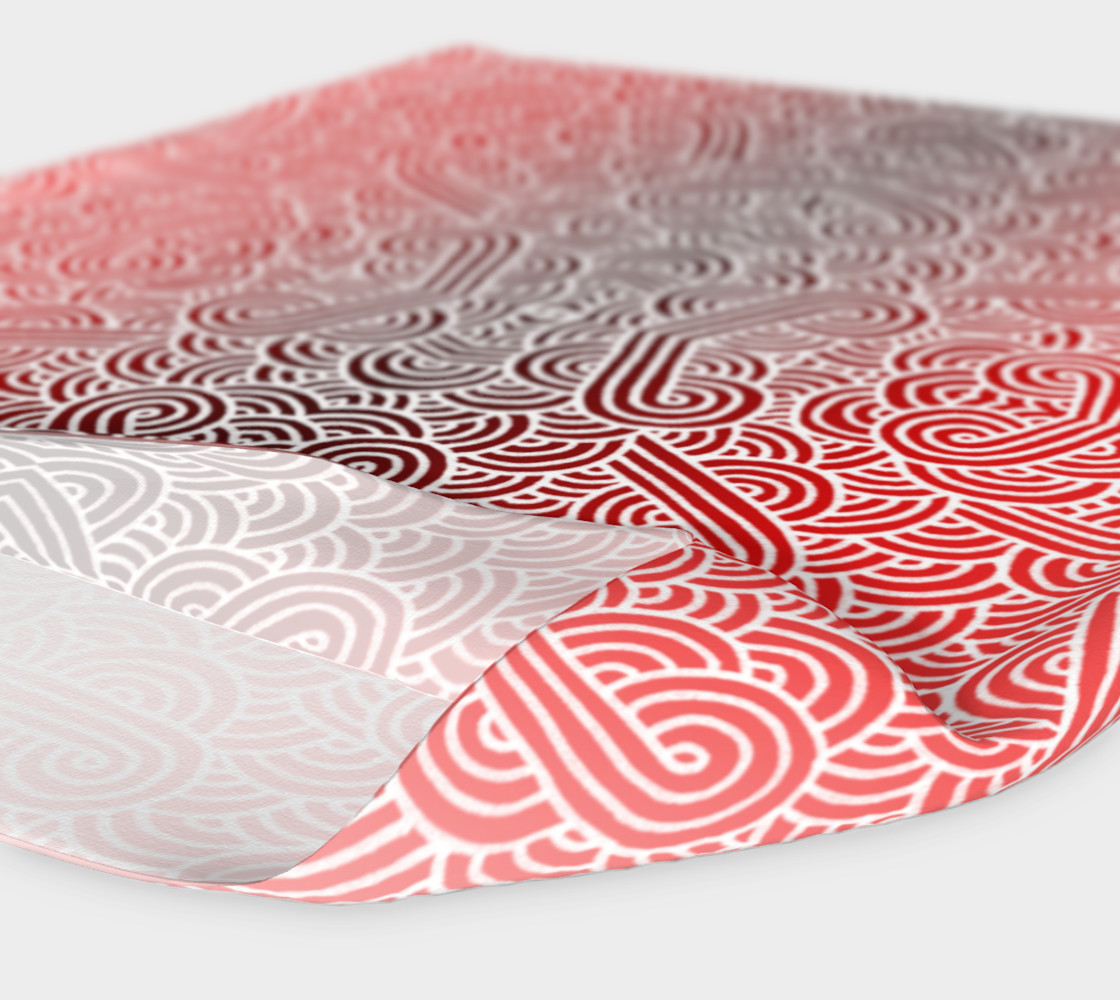 Ombre red and white swirls doodles Headband preview #4