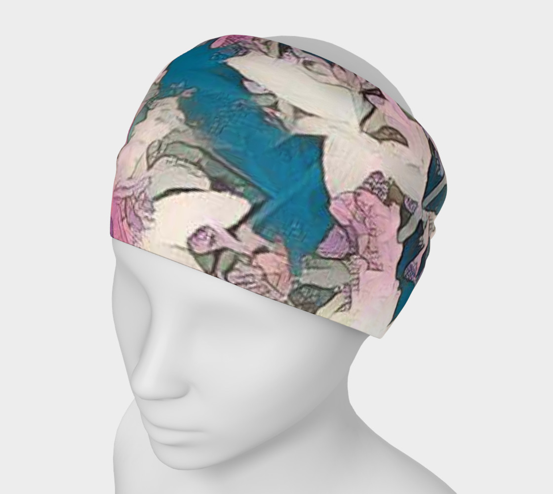 blue and pink head band preview #1