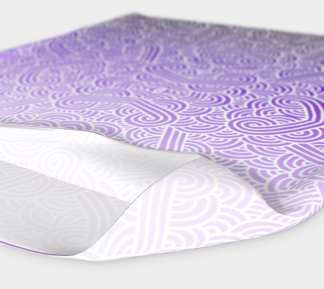Ombre purple and white swirls doodles Headband preview #4