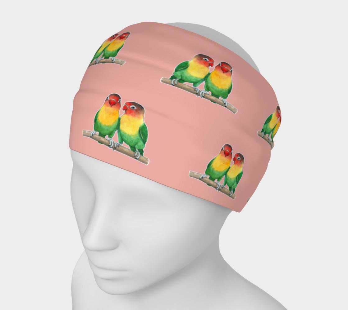 Aperçu de Fischer's lovebirds pattern Headband #1