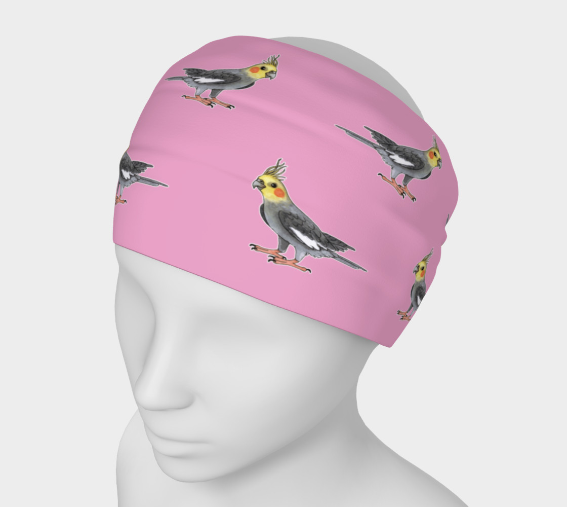 Cockateel birds pattern Headband preview #1