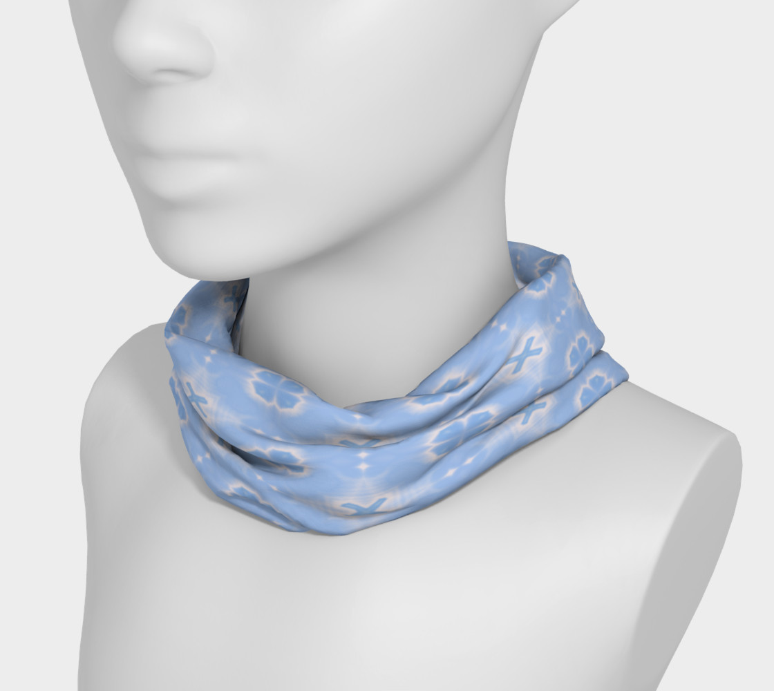 Clover Blue head scarf preview #3