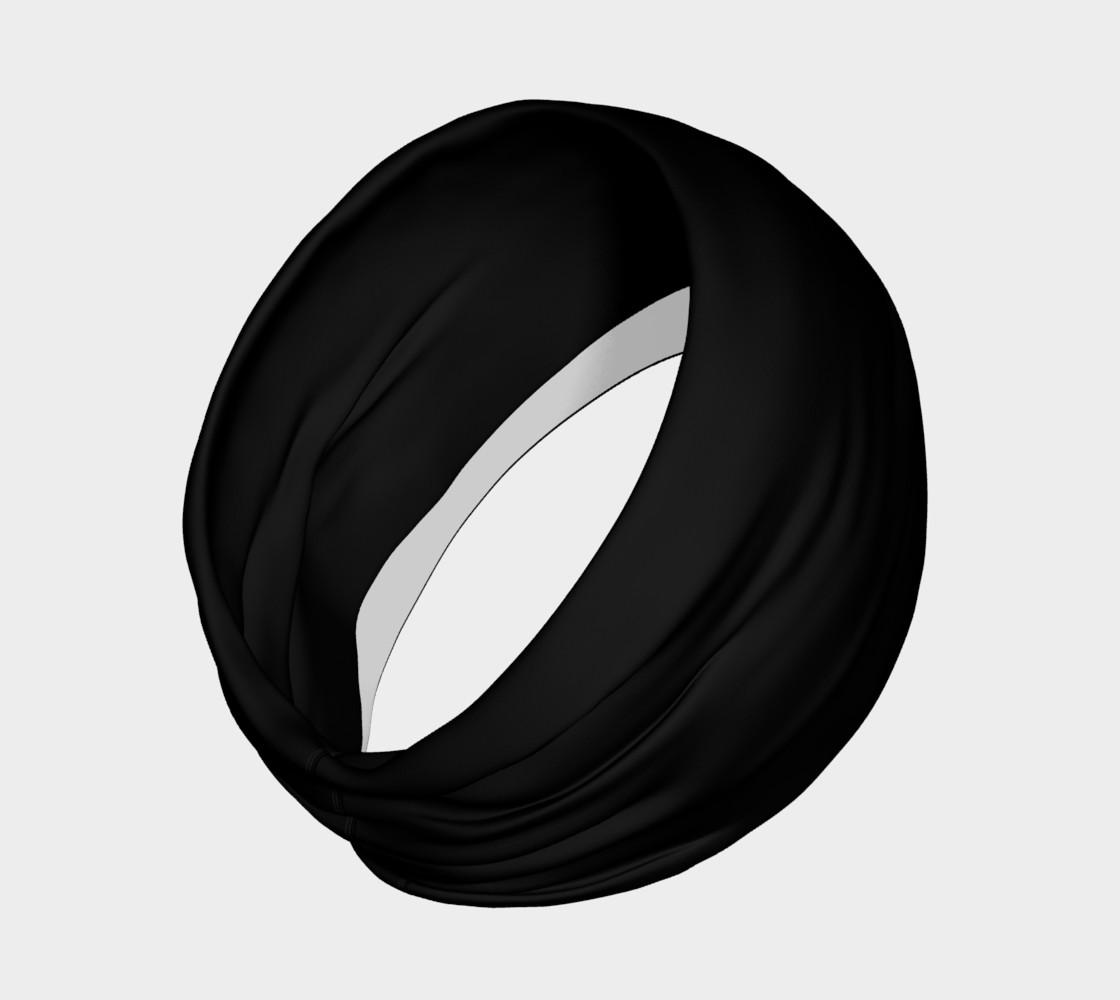Aperçu de Black as Night Sky Headband #2