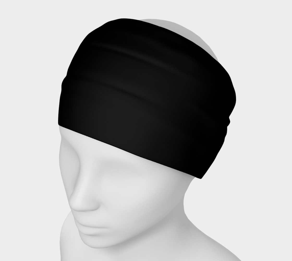 Aperçu de Black as Night Sky Headband #1
