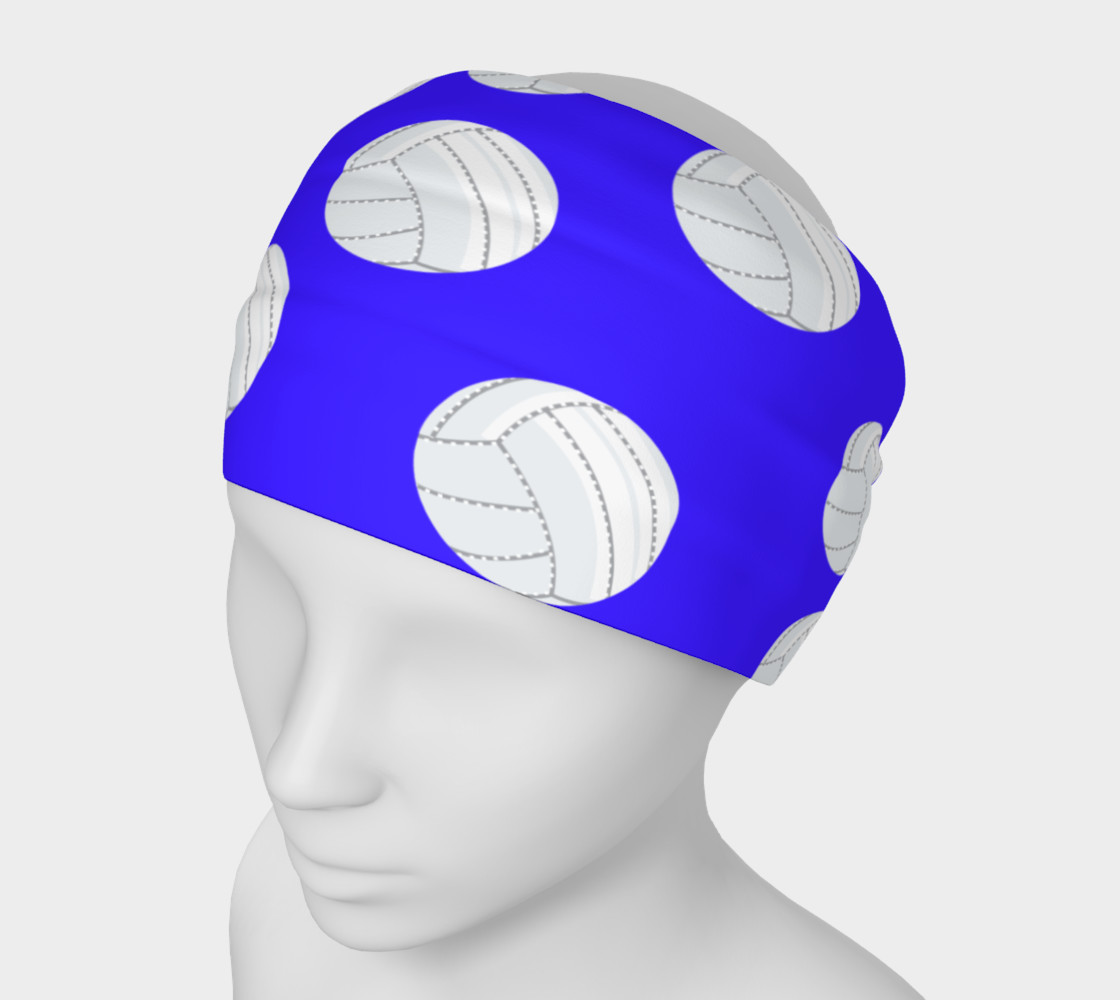 Blue Volleyball Headband preview #1