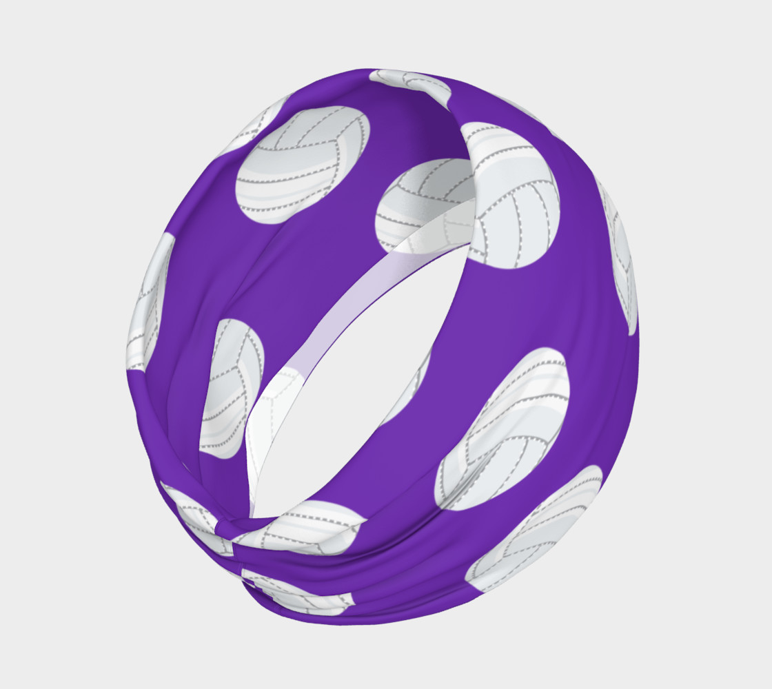 Purple Volleyball Headband preview #2
