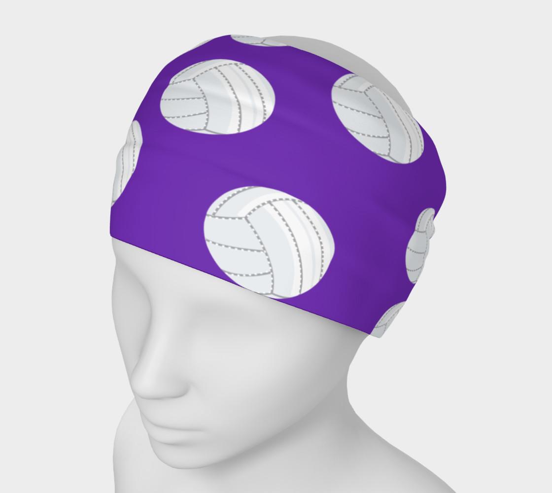 Purple Volleyball Headband preview #1