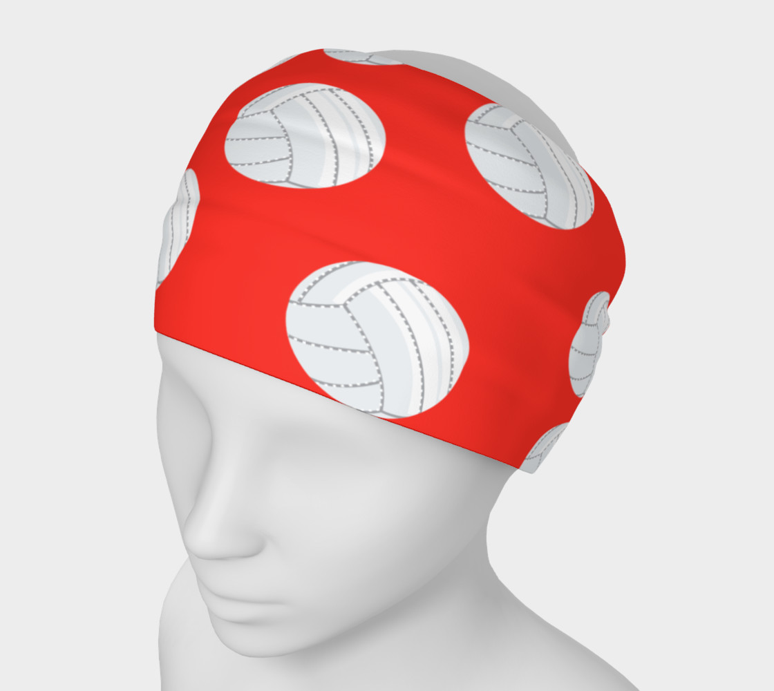 Aperçu de Red Volleyball Headband #1