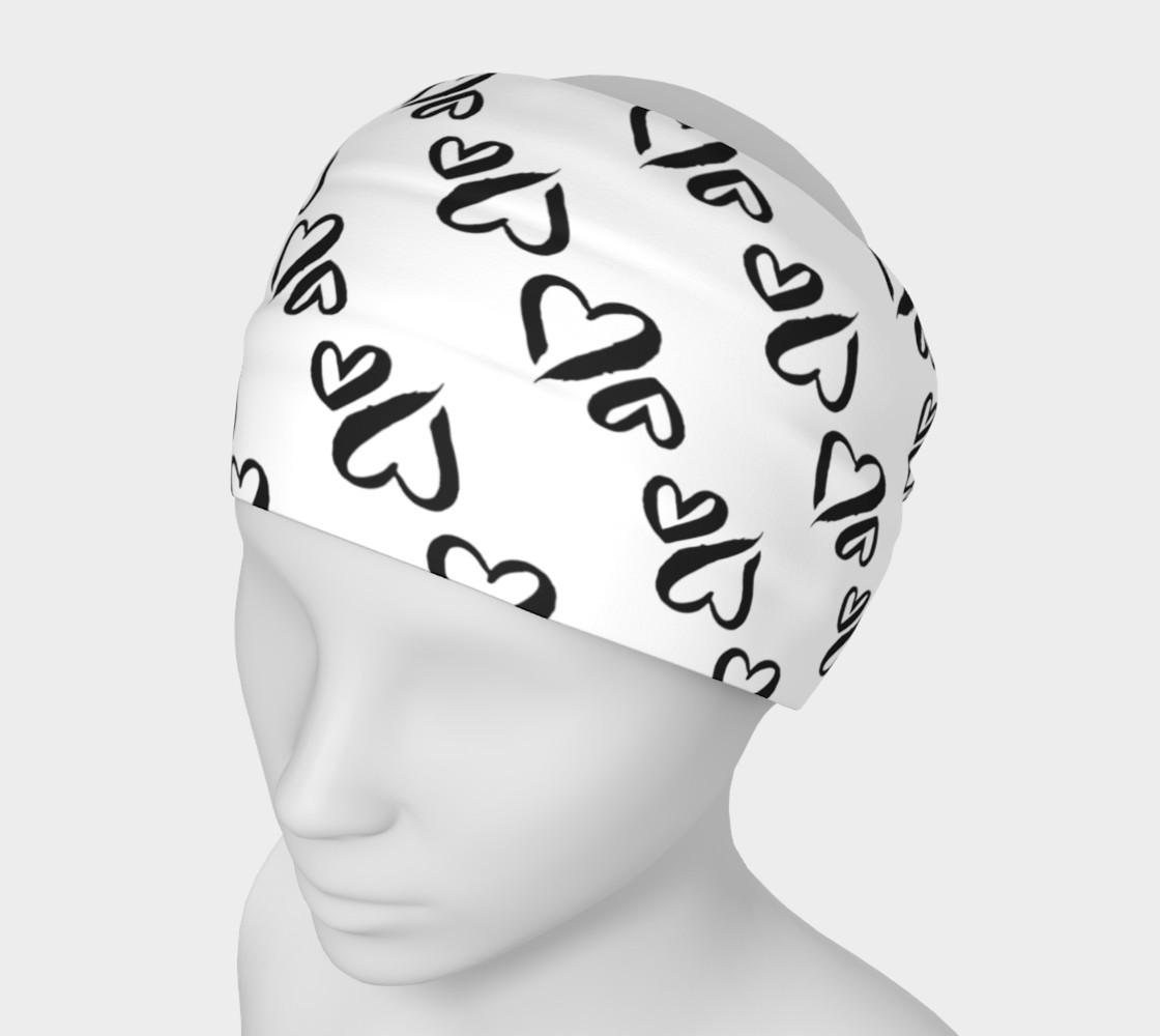 Aperçu de Black Hearts Headband #1