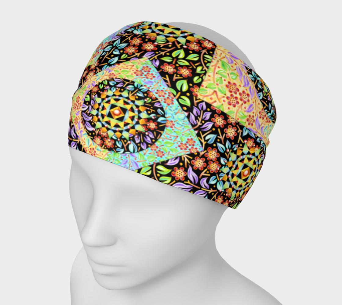 Aperçu de Filgree Floral Patchwork Headband #1