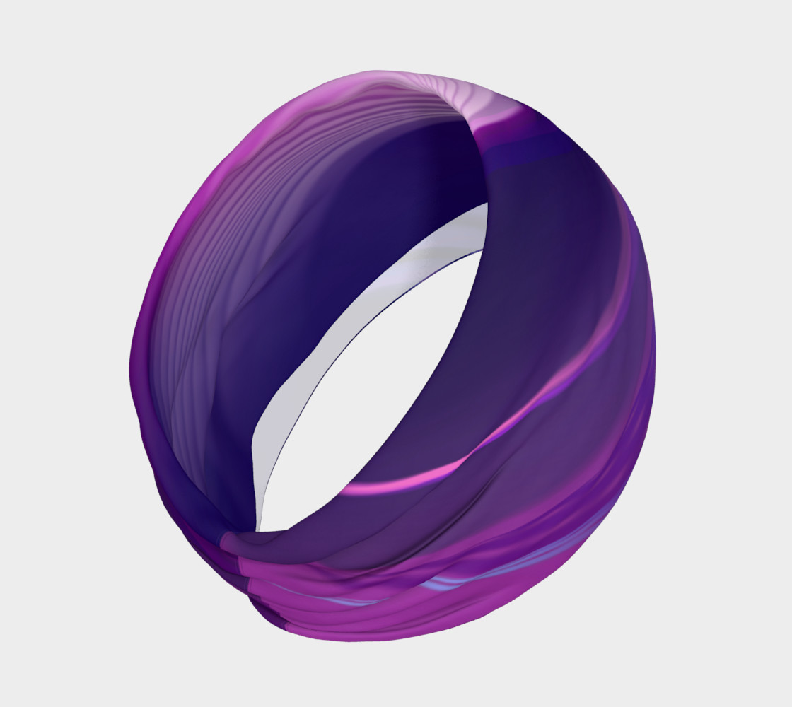 abstract purple headband preview #2