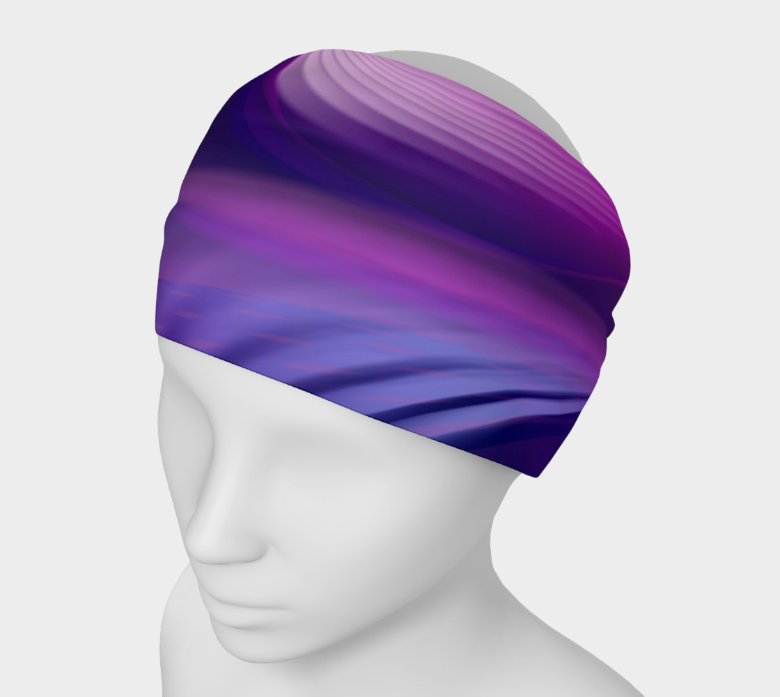 abstract purple headband preview #1