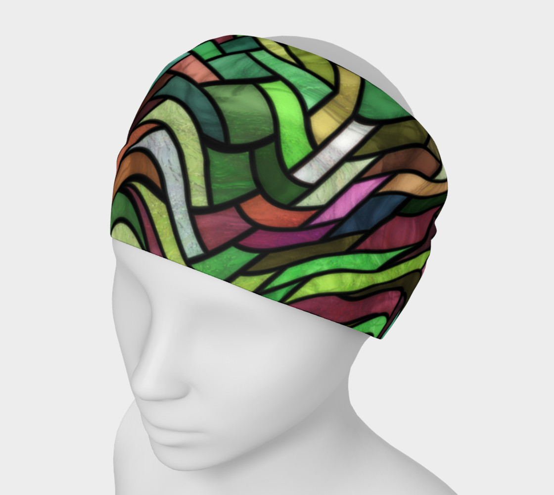 Geometrix - Stained Glass Springtime Headband 3D preview