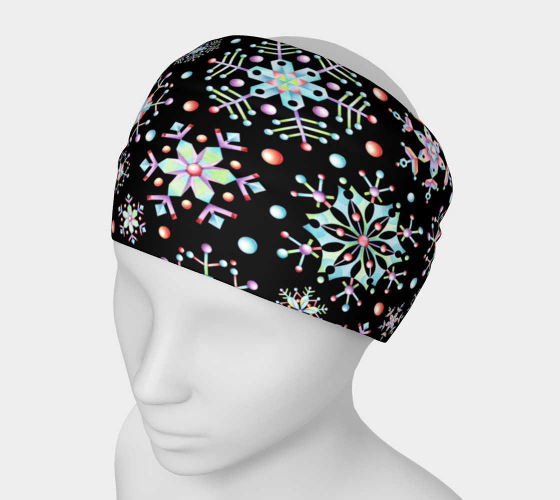 Aperçu de Prismatic Snowflakes Headband #1