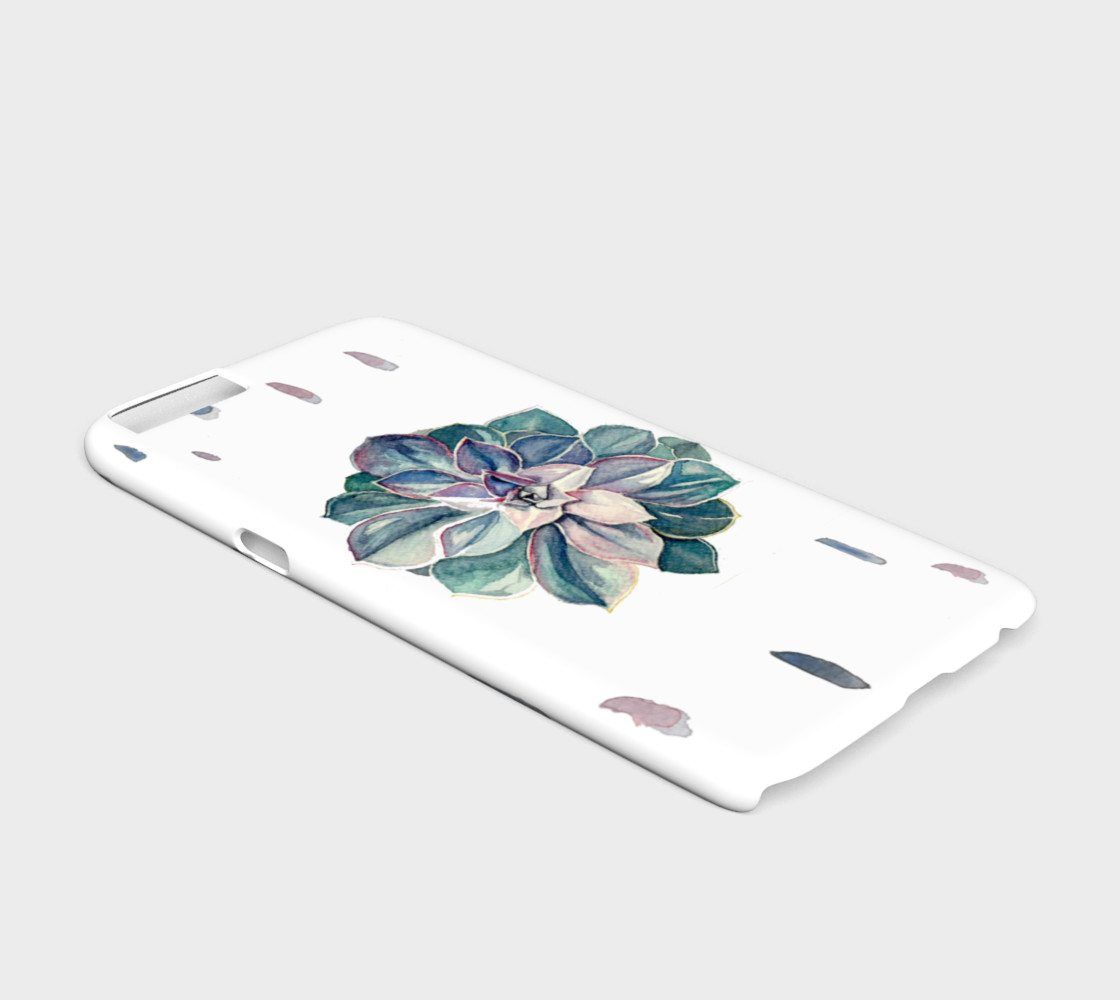 Watercolor Succulent iPhone 6/6S Case (Cool Palette) preview #2