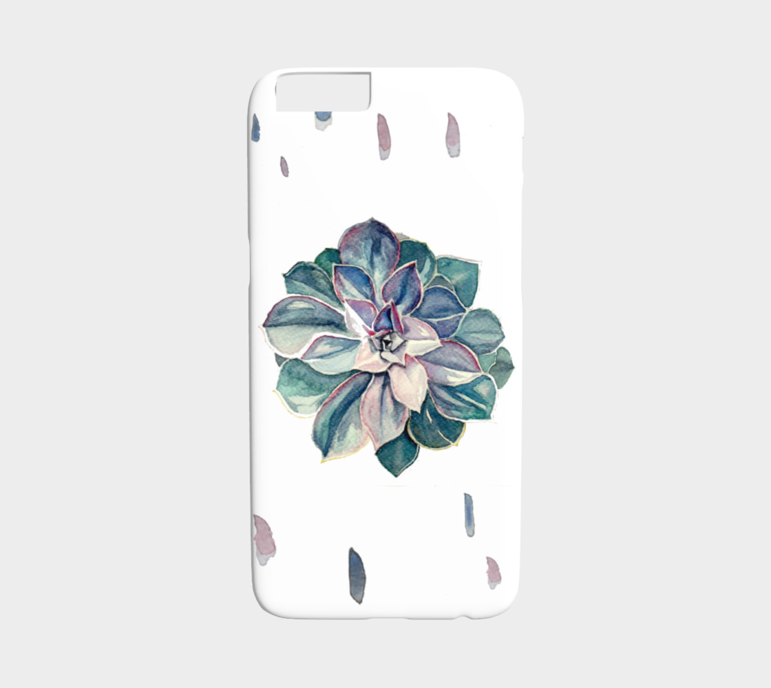 Watercolor Succulent iPhone 6/6S Case (Cool Palette) preview #1